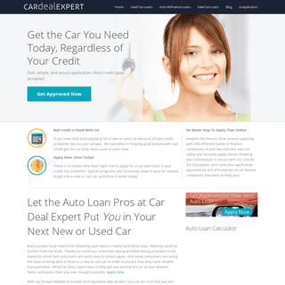Car Deal Expert Auto Loans - Auto Financing, Car Loans and Car Credit!