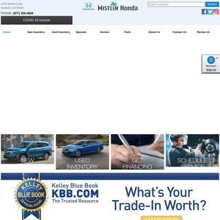 Mistlin Honda - New and Used Cars, Parts and Service - Modesto, CA.