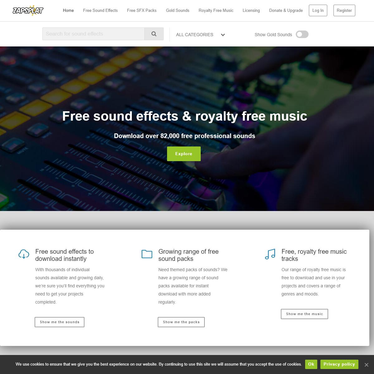 ZapSplat - Download Free Sound Effects & Royalty Free Music