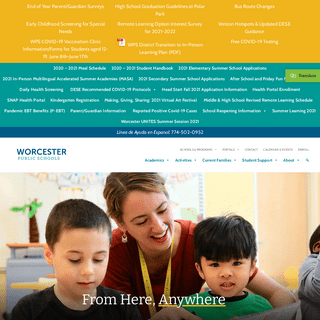Worcester Public Schools, Massachusetts (n) – From Here, Anywhere