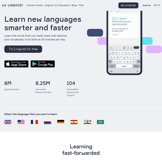Learn Spanish, French, German, Russian and Portuguese Online - Lingvist