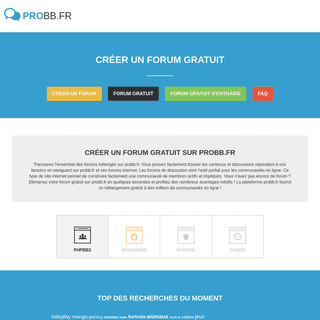 Créer un forum - probb.fr