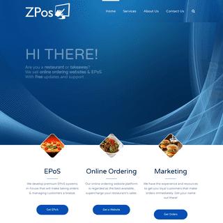 Restaurant & Takeaway Online Ordering & EPoS - ZPos