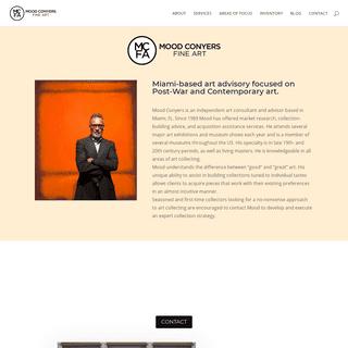 Mood Conyers Fine Art - Art Advisory - Post War Contemporary Art