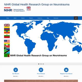 NIHR Global Health Research Group on Neurotrauma