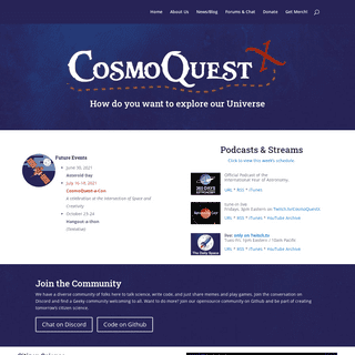 CosmoQuest – Where do you want to explore today-