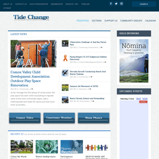 Tide Change - The Comox Valley`s Centre for Community Action