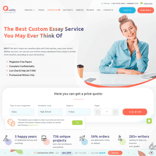 Buy Custom Essays at the Best Writing Service- Order Now