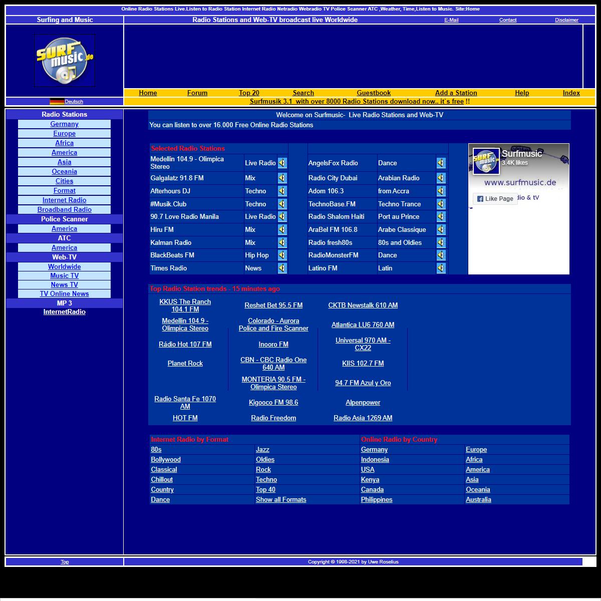 Radio Stations - Radio Live - TV Broadcast - Music Online