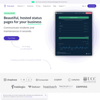 Hosted Status Pages & Monitoring - Statuspal