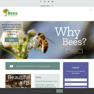 Bees for Development – The world`s leading organisation on beekeeping for poverty alleviation and biodiversity protection