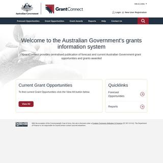 GrantConnect Homepage- GrantConnect
