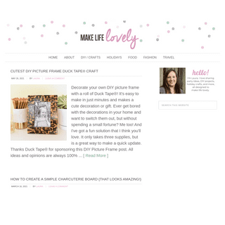 Make Life Lovely - Your DIY Guide to a Lovelier Life