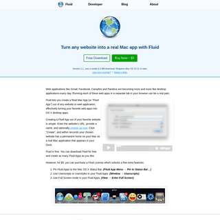 Fluid – Turn any webpage into a real Mac App