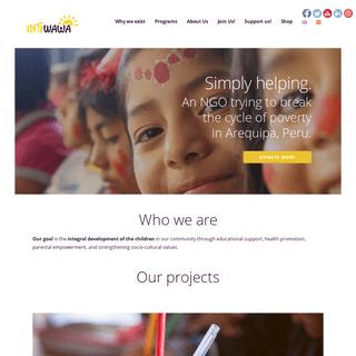 Intiwawa – A developmental NGO working in Arequipa, Peru.