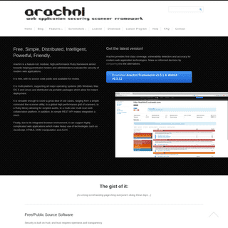 Home - Arachni - Web Application Security Scanner Framework