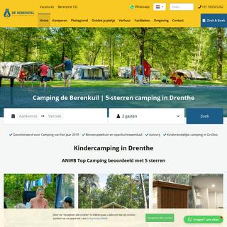 Camping De Berenkuil in Grolloo - 5 sterren camping in Drenthe