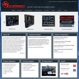 J.P. Instruments Precision Engine Monitoring - Aircraft Engine Data Management - EGT-CHT Monitors - J.P. Instruments