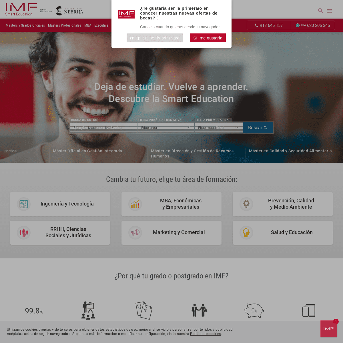 IMF Smart Education- Masters Oficiales Online y MBA. Becas