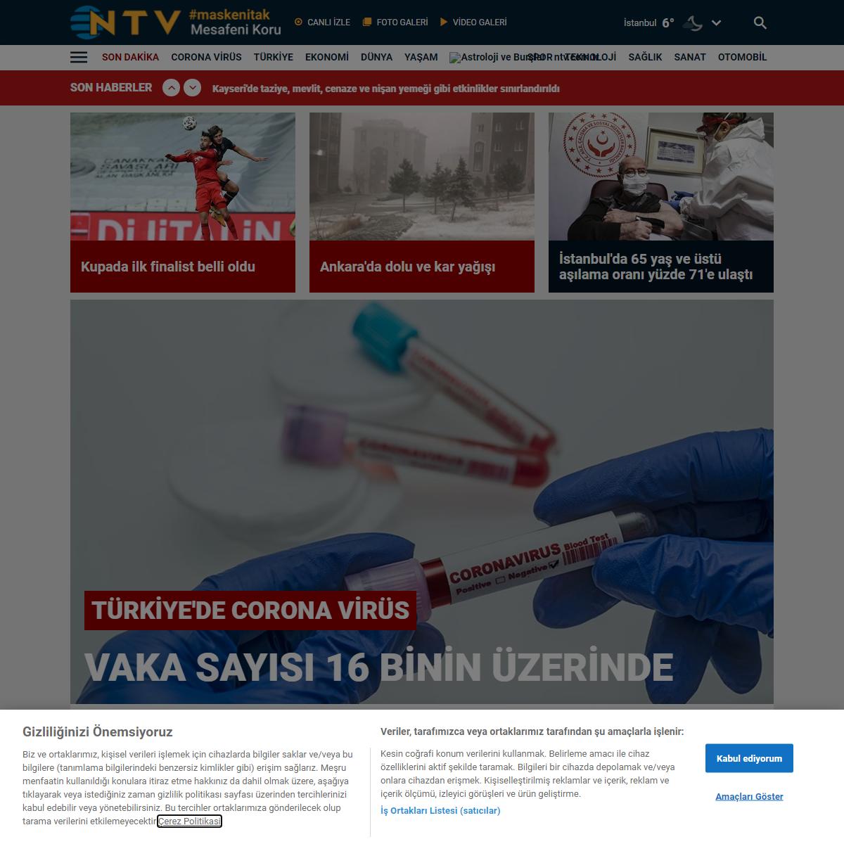 NTV HABER - Haberler, Son Dakika Haberleri