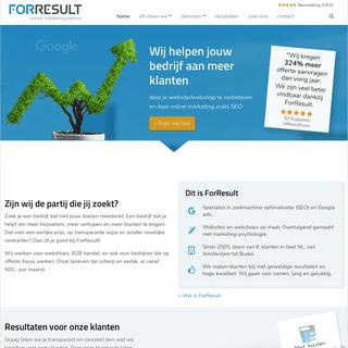 ForResult - online marketing partner - SEO & conversie optimalisatie