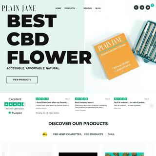 Best and Most Affordable CBD & Hemp Flower - Plain Jane