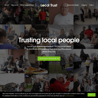 Trusting Local People - Transforming & Improving Lives - Local Trust