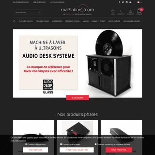 Platines vinyles - Achat de platines, cellules, pré-amplificateurs, casques - Achat Hi Fi - maPlatine.com