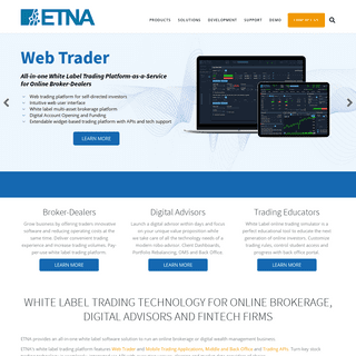 White Label Trading Platform for Online Brokers and Digital Advisors