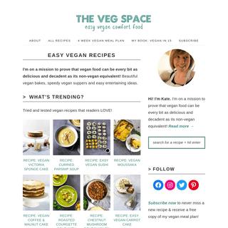 Easy Vegan Recipes - The Veg Space vegan comfort food