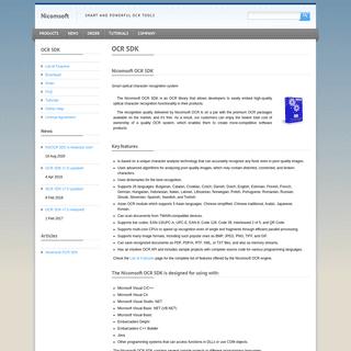 Accurate OCR SDK for C# .NET VB.NET C-C++ Java Delphi