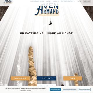 Grotte de l`Aven Armand - Patrimoine Unique au Monde