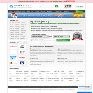 GetCertKey- 100- guarantee you pass IT certification exam