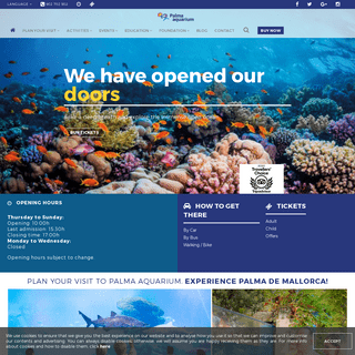 Come to Palma Aquarium. The Aquarium in Palma de Mallorca