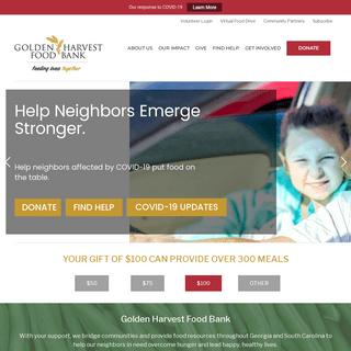 Golden Harvest Food Bank – Feeding Lives Together