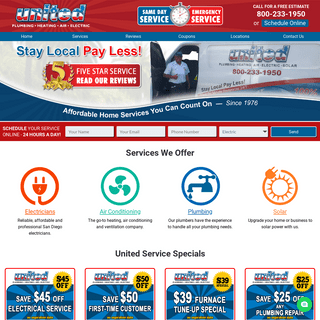 #1 San Diego Electricians, Furnace, Air Conditioning & Plumbing Pros