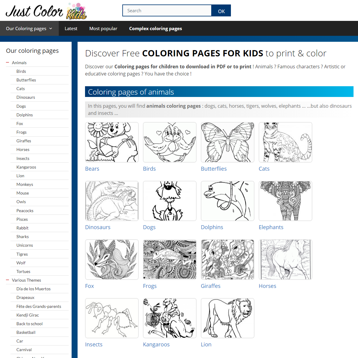 Coloring Pages for Kids · Download and Print for Free ! - Just Color Kids