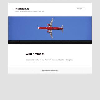 flughafen.at - Plattform für alle österreichischen Flughäfen. Guten Flug!