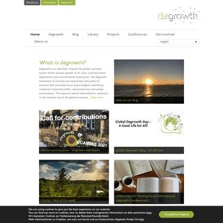 degrowth.info - Web portal on degrowth