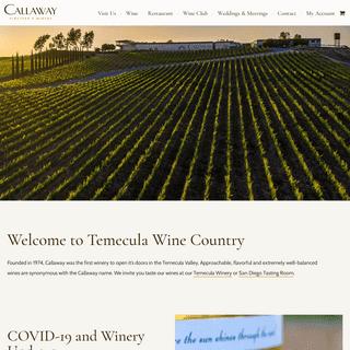 Temecula Wineries - Callaway Vineyard & Winery in Temecula Wine Country