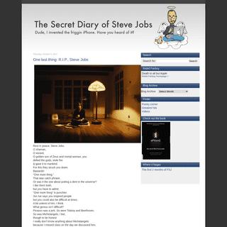 The Secret Diary of Steve Jobs
