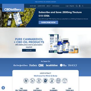 CBDistillery - CBD Oil for Sale Online - Lab-Tested U.S. Hemp