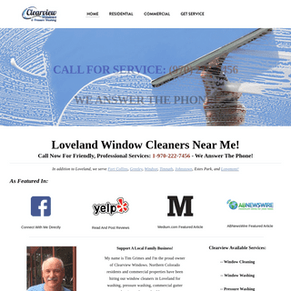 Clearview Windows, Inc. - Loveland Window Cleaners - Window Cleaning In Loveland CO Near Me - Serving Fort Collins, Greeley And