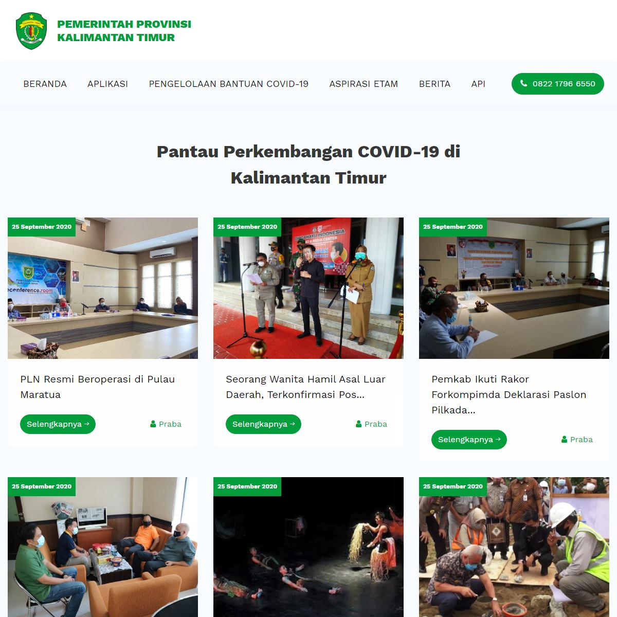 Berita — COVID-19 di Kalimantan Timur