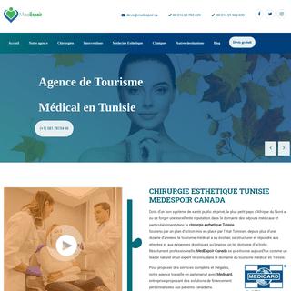 Chirurgie esthetique Tunisie - prix et tarifs, Medespoir Canada