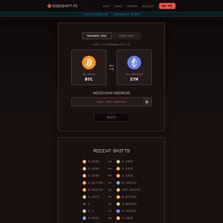 SideShift.ai - No Sign-Up Crypto Exchange