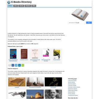 E-Books Directory - Categorized Links to Free Books