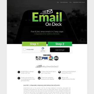 Free Temporary Email - EmailOnDeck.com