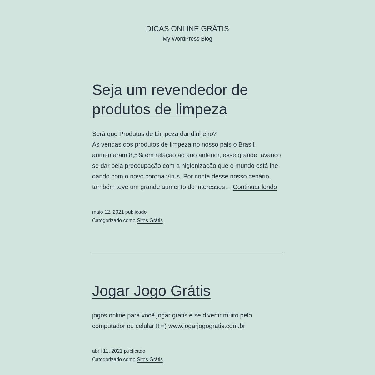 Dicas Online Grátis - My WordPress Blog