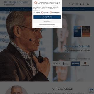 Dr. Holger Schmidt - Netzökonom, Digital Economist & Speaker